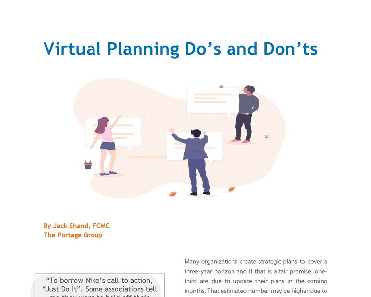 Virtual Planning Do's and Don'ts